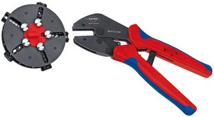 MultiCrimp, crimping pliers with change magazine, incl. 5 crimping dies