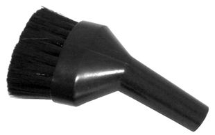 ESD brush nozzle for ESD vacuum cleaner, D-shape