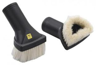 ESD brush nozzle for ESD vacuum cleaner, D-shaped, soft