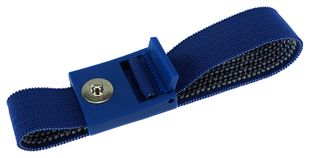 ESD bracelet dark blue, 3 mm snap fastener, toothed clasp