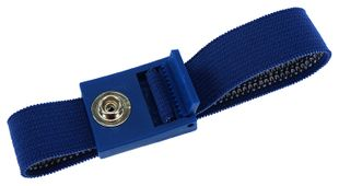 ESD bracelet dark blue, 7 mm snap fastener, toothed clasp