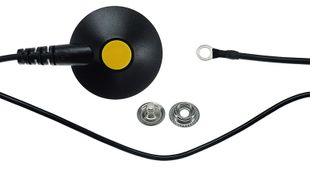 ESD earthing cable 10 mm push button/eye, L = 4,5 m