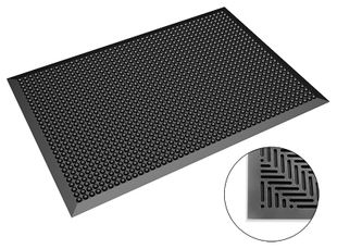 ESD floor mat, dimensions as required, knobs hemisphere