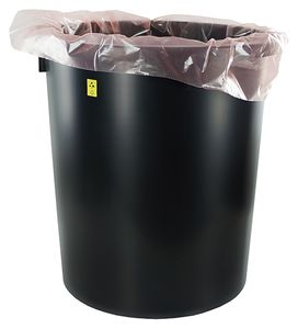 ESD trash can, round, 35 litres