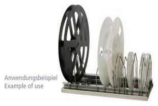 Reel lever for spool stand