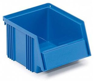 Open fronted storage bin, 250 x 149 x 130 mm, blue