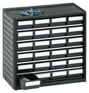 ESD small parts magazine, 24 drawers, 310x180x290 mm