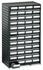 ESD small parts magazine, 48 drawers, 310x180x550 mm