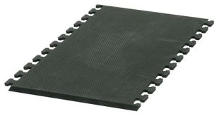 ESD floor mat ECOSTAT, puzzle technique: crosswise, middle piece, black, napped, 970 x 610 x 13 mm