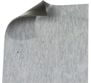 ESD floor covering DUO 2.0, grey, 1500 x 2 mm, roll length according to customer requirements