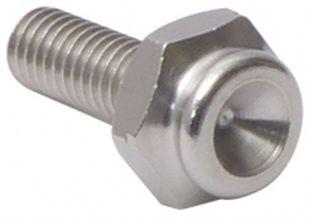 Push-button adapter 10 mm, with hexagon and M6 threaded pin