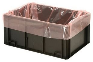 ESD PERMASTAT side gusseted bag, for storage container 600 x 400 mm
