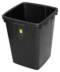 ESD trash can, square, 90 litres