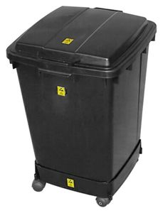 ESD trash can set, square, 90 litres