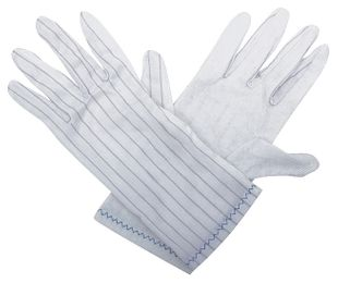 ESD glove polyester, with PVC knobs, S