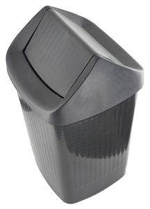 ESD trash can, square, with swing lid, 50 litres