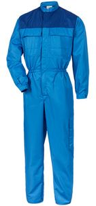 Cleanroom overall royal/bugatti blue, size 42/44