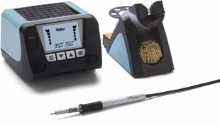 WT 2010M (UK), 2-channel soldering station with WTP 90 soldering iron, digital 150 W