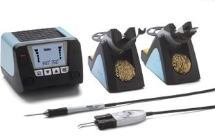 WT 2020M (UK), 2-channel soldering station set, digital 150 W with WMRT and WMRP