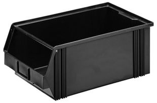 ESD visual storage bin, black 500 x 300 x 200